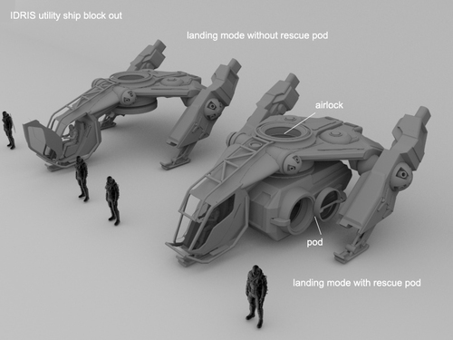 WIP - Idris Rescue Ship
