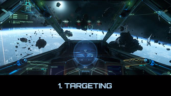 Player enters landing mode. The closest pad is automatically targeted, but is out of range of permission request.