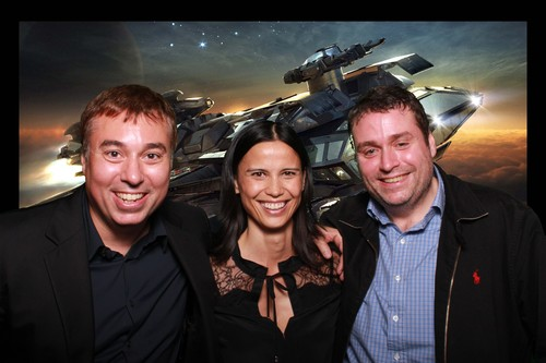 Erin, Sandi and I having fun with the CitizenCon photobooth.