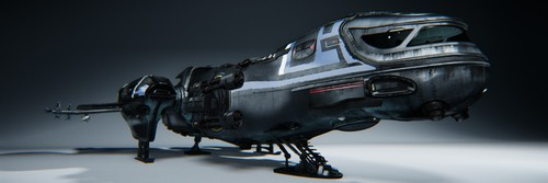 Front view of the landed Freelancer chassis