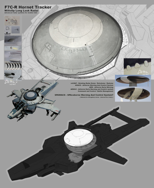 Star Citizen Art Design sheet: F7C Hornet's Long Look Radar