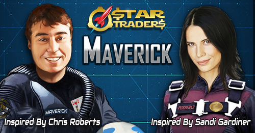 Ryan was kind enough to render Sandi and I as Star Traders characters