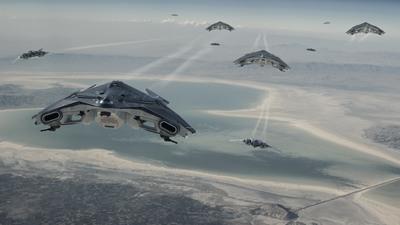 CRUS_Starlifter_Promo_Gunship_Formation_