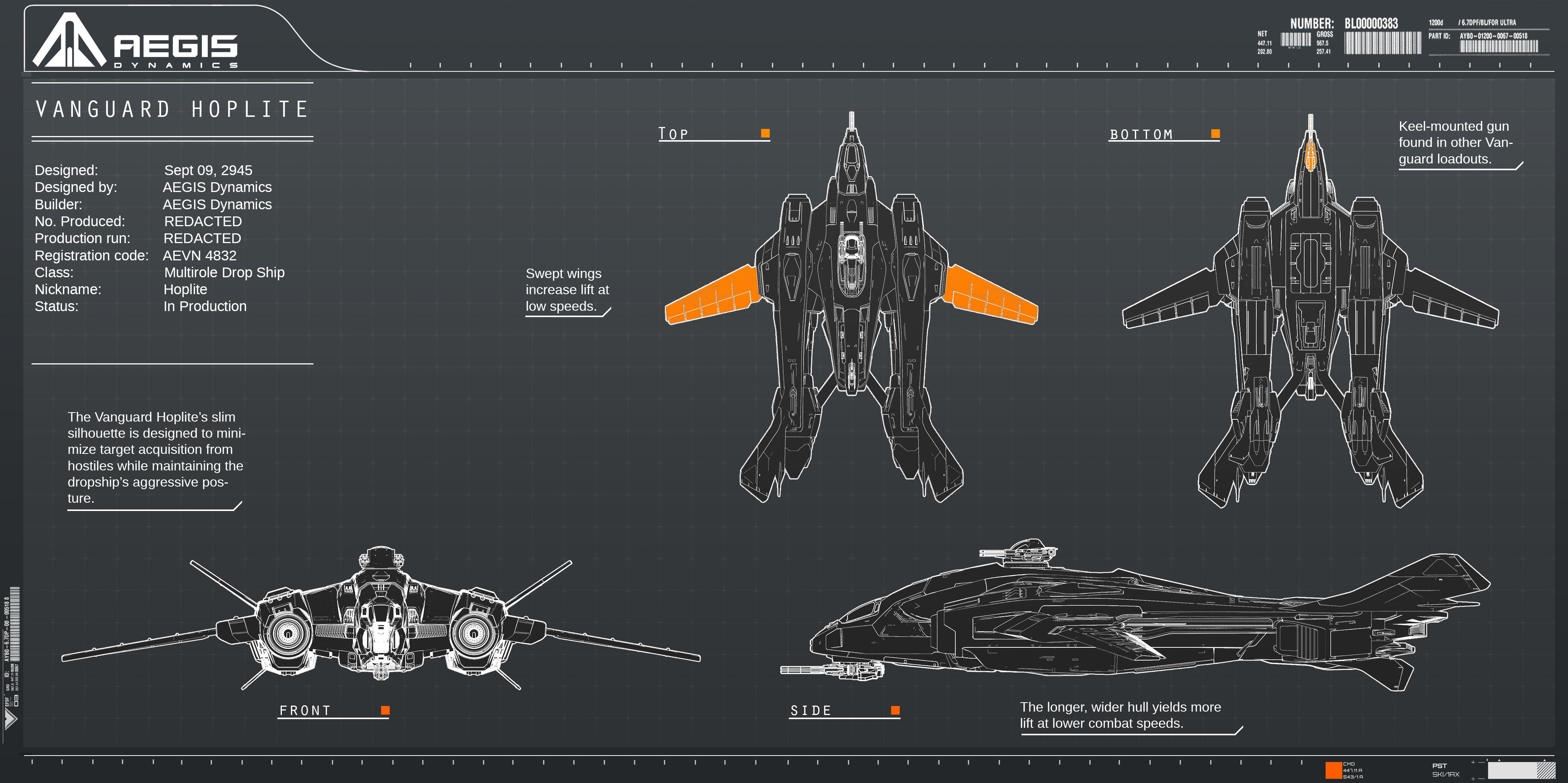 Aegis Dynamics Vanguard series Aegis-Vanguard-Hoplite-V2-P1