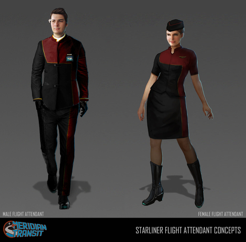 Concept art - Meridian flight attendants