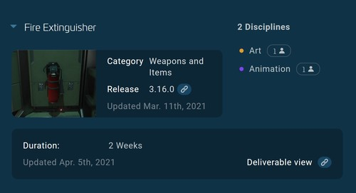An example of Release View/Progress Tracker Navigation
