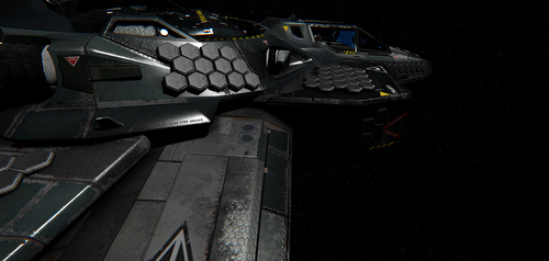 Work in Progress model of the Hornet using PBR with heavy armor affixed to it by Chris Smith